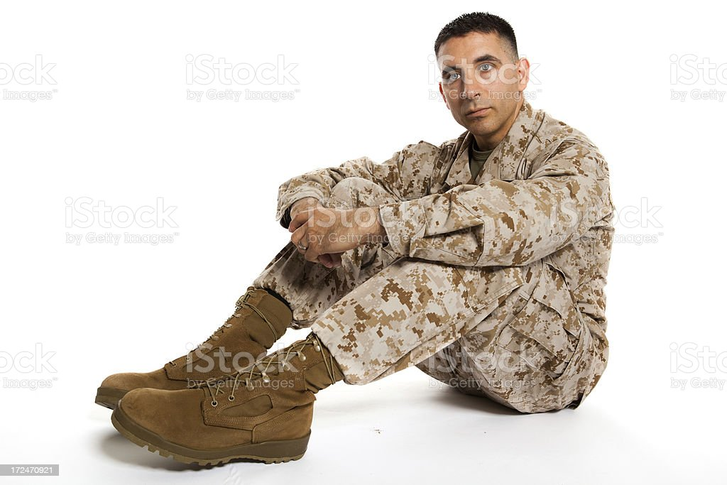 Post Tramatic Stress Disorder Marine royalty-free stock photo