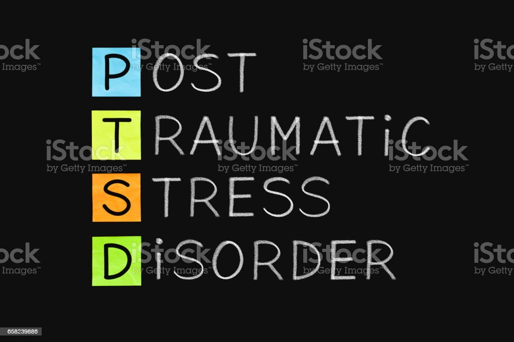 Post Traumatic Stress Disorder PTSD - fotografia de stock