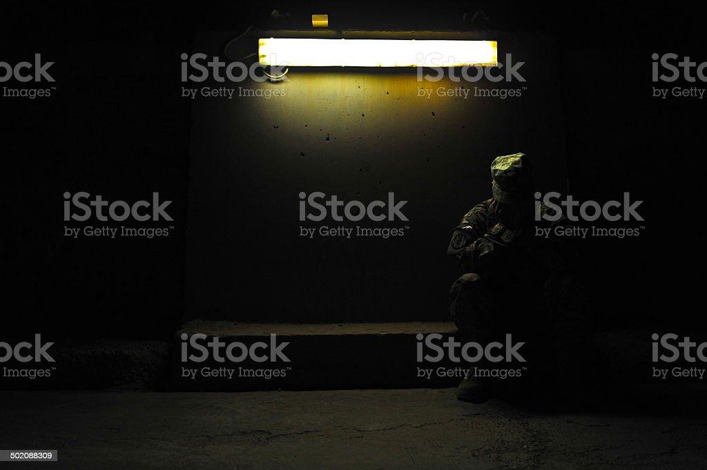 Post Traumatic Stress PTSD stock photo
