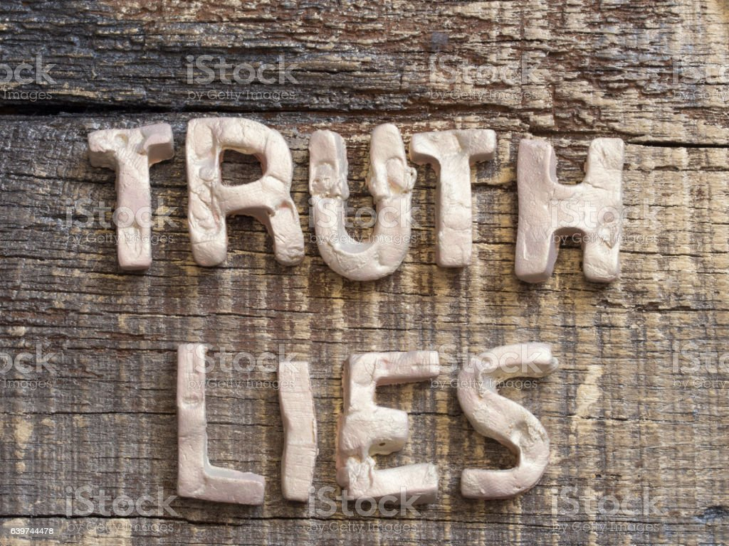 Post Truth concept stock photo
