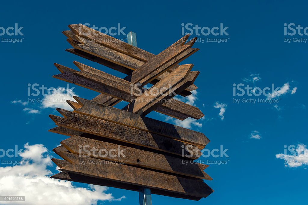 Post wooden signposts photo libre de droits