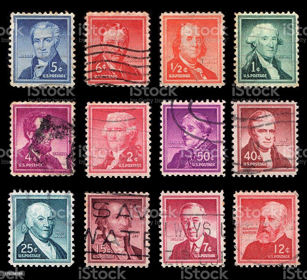 US Postage royalty-free stock photo