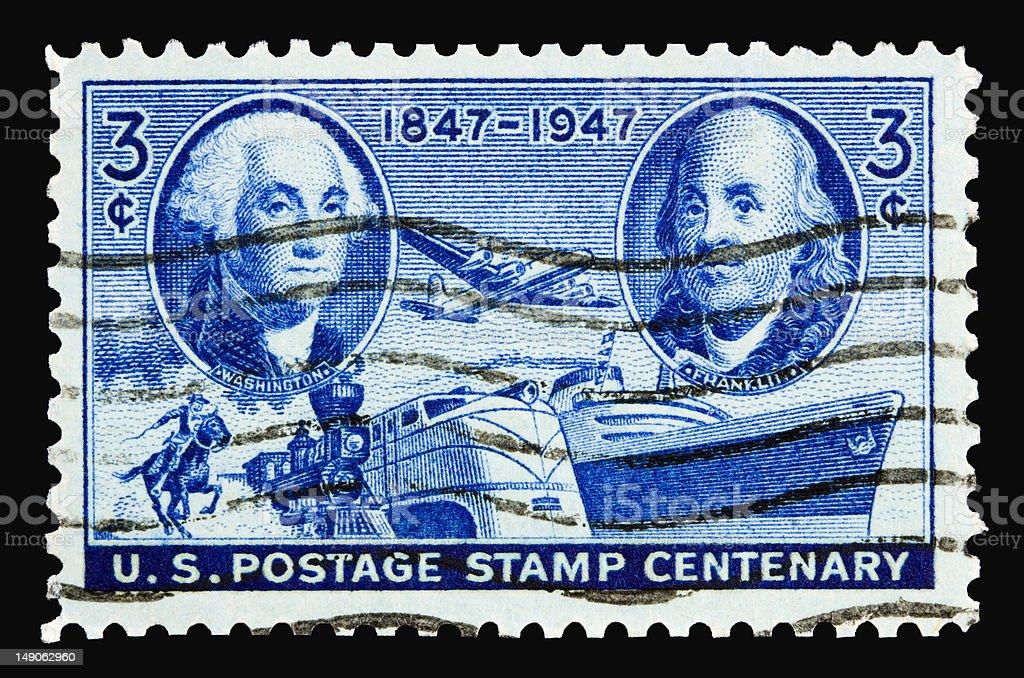 Postage Stamp 1947 stock photo
