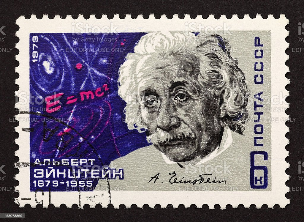 USSR postage stamp Albert Einstein royalty-free stock photo