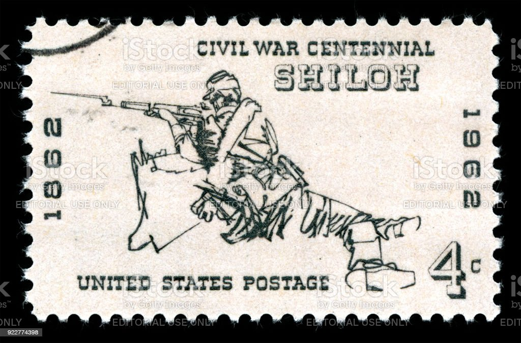 USA Postage Stamp Battle of Shiloh stock photo