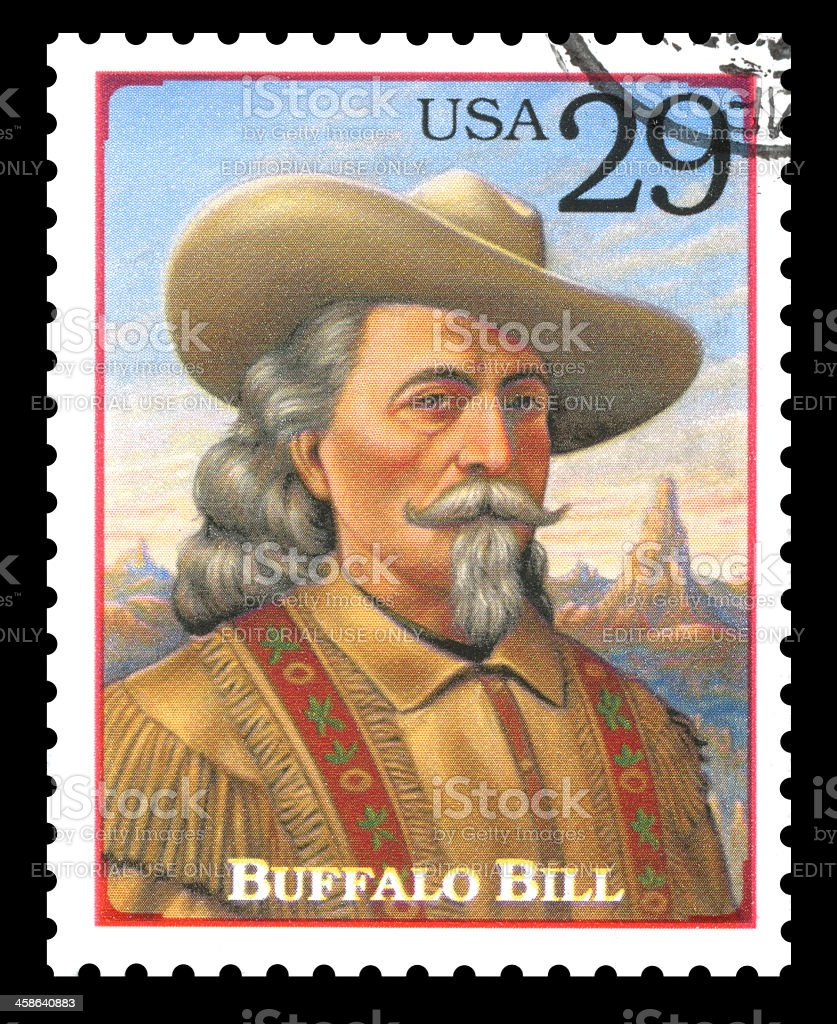 USA Postage Stamp Buffalo Bill stock photo