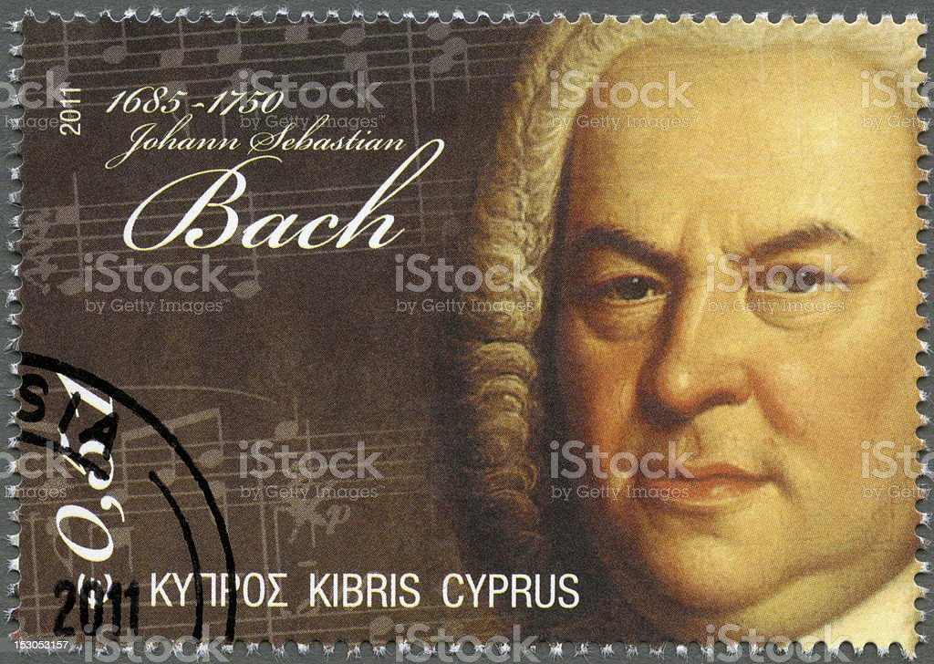 Postage stamp Cyprus 2011 Johann Sebastian Bach (1685-1750) stock photo