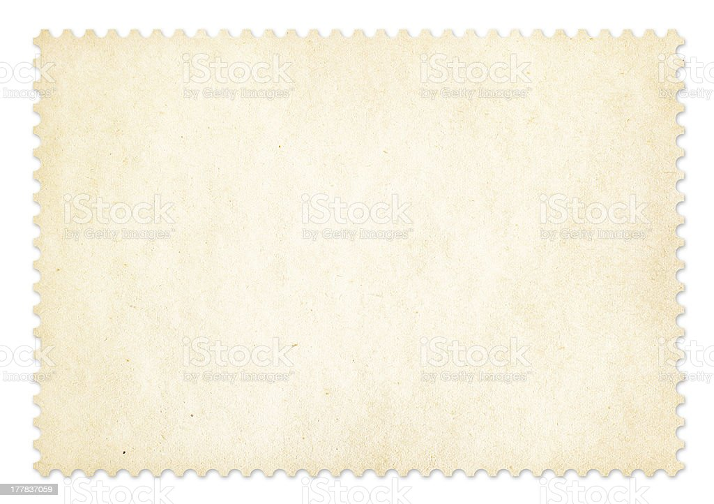 Postage stamp frame isolated. Clipping path is included. royalty-free stock photo