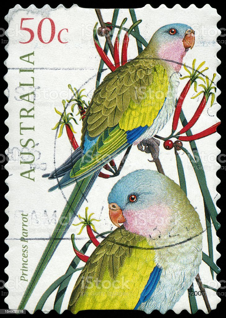 Postage stamp from Australia stock photo