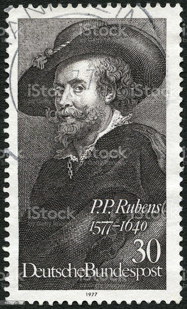Postage stamp Germany 1977 shows painter Peter Paul Rubens 1577-1640 stock photo