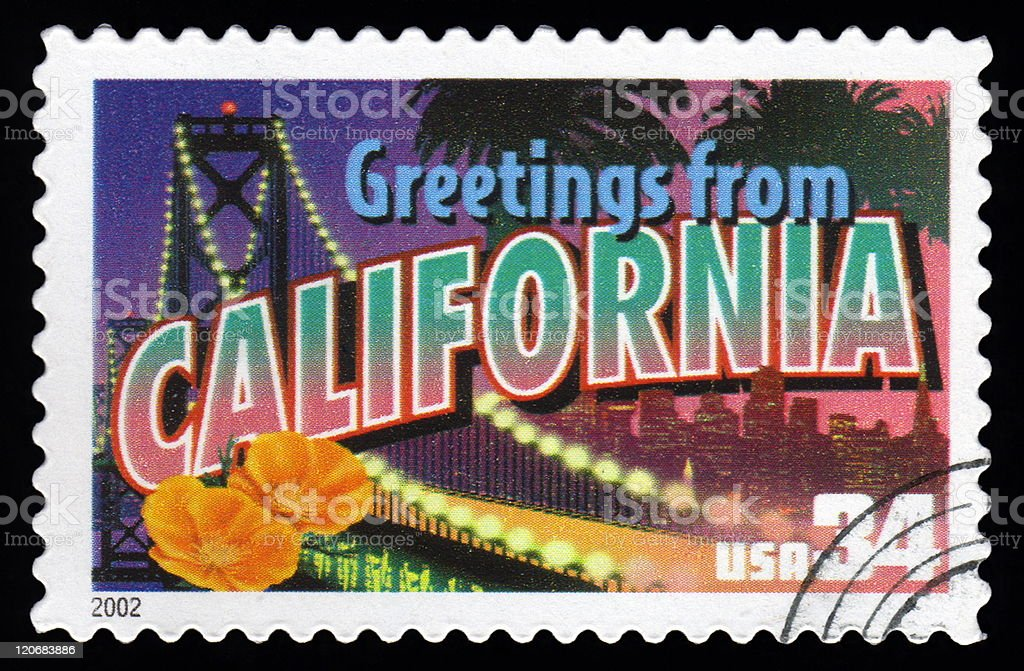 Usa postage stamp greetings from california stock photo more usa postage stamp greetings from california royalty free stock photo m4hsunfo