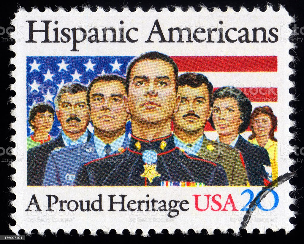 USA Postage Stamp Hispanic American stock photo