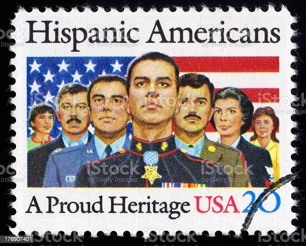 Usa Postage Stamp Hispanic American Stockfoto en meer beelden van Amerikaanse cultuur
