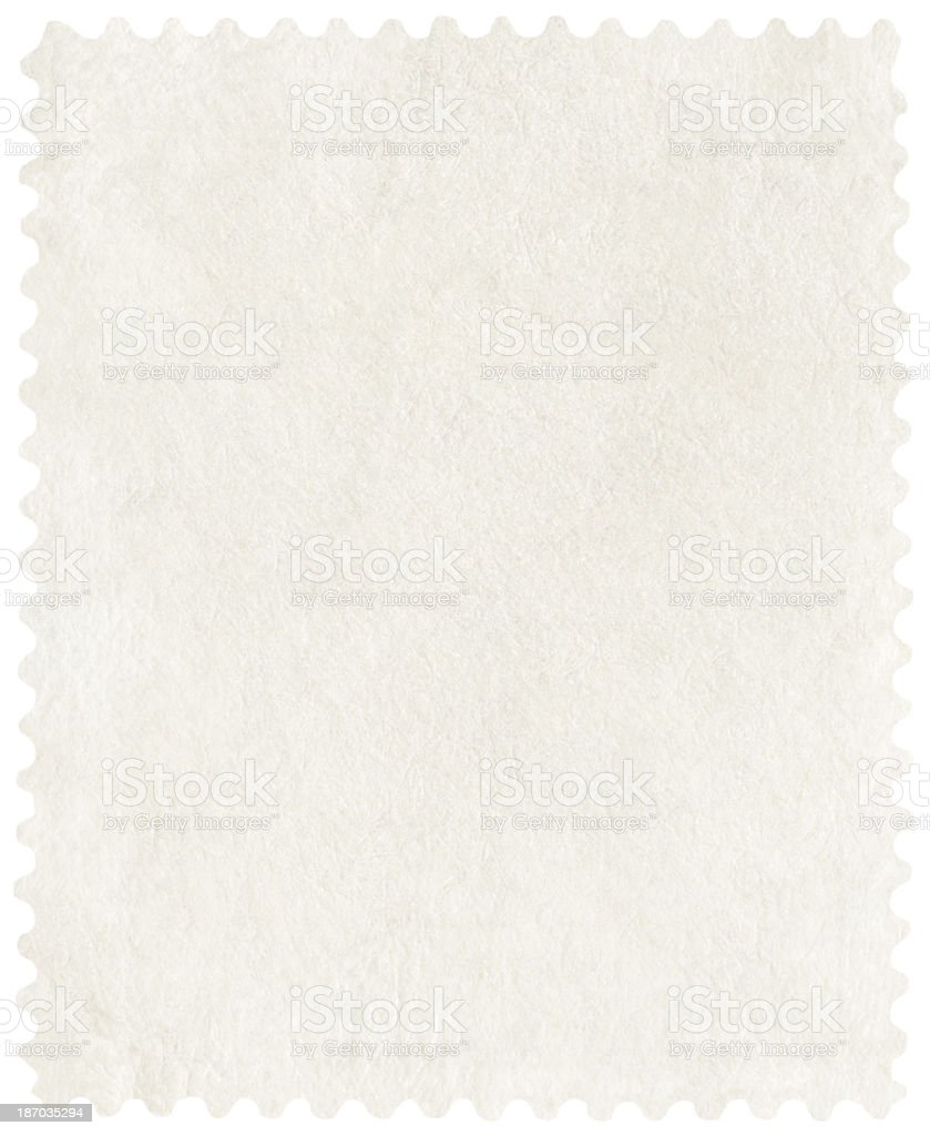 Postage Stamp isolated (clipping path included) royalty-free stock photo