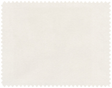 Postage Stamp isolated (clipping path included)