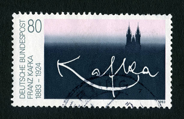 postage stamp Kafka signature Postage stamp with the signature of Franz Kafka from 1983. Germany. signature collection stock pictures, royalty-free photos & images