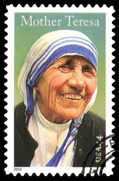 usa postage stamp mother teresa - 2010 foto e immagini stock