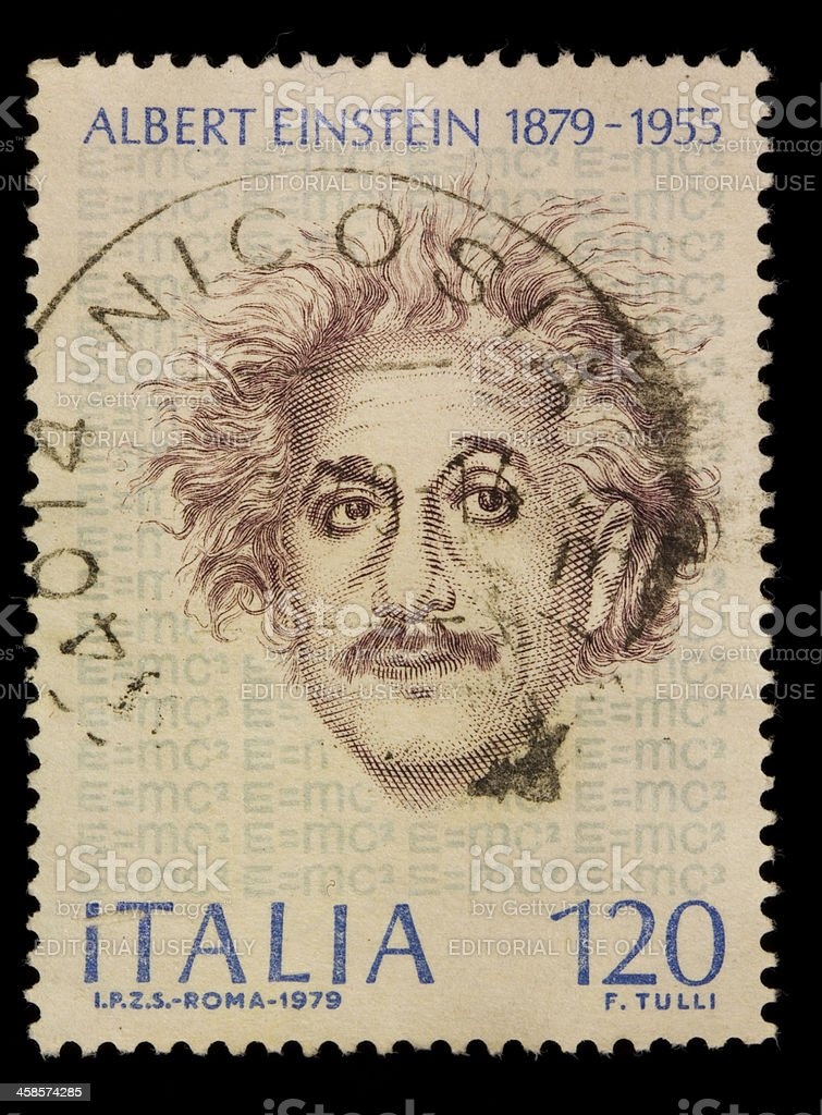 Timbre-poste d'Albert Einstein-Italie - Photo