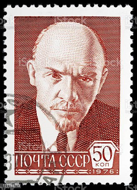 USSR Postage Stamp on white background