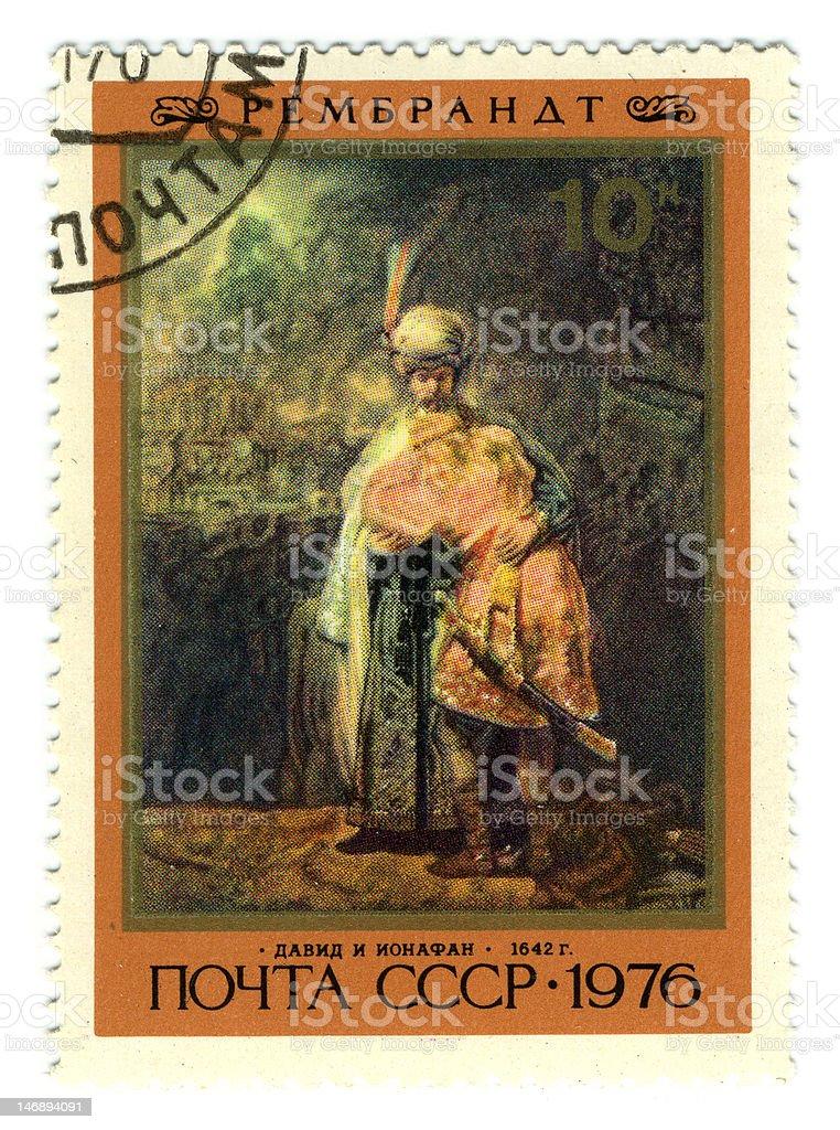 Postage stamp. stock photo