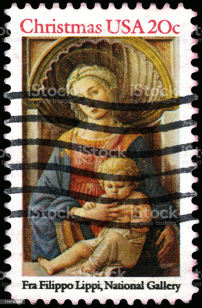USA Postage Stamp royalty-free stock photo