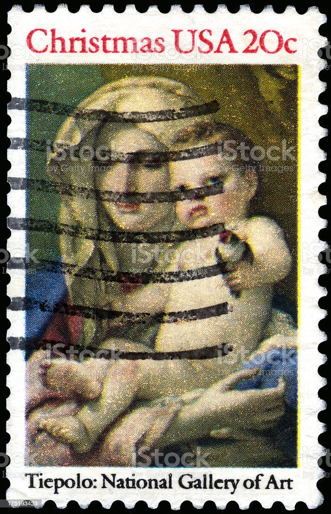 USA Postage Stamp royalty-free stock photo