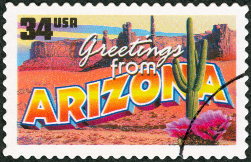 Postage Stamp - Greetings from Arizona