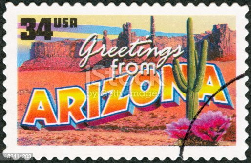 Postage Stamp - Greetings from Arizona