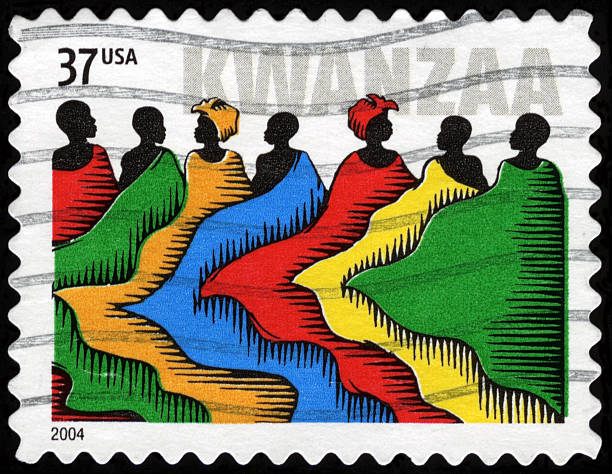 usa postage stamp - kwanzaa stock pictures, royalty-free photos & images