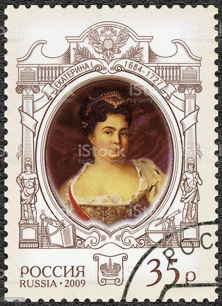 Postage stamp Russia 2009 325th anniversary birth of Catherine stock photo