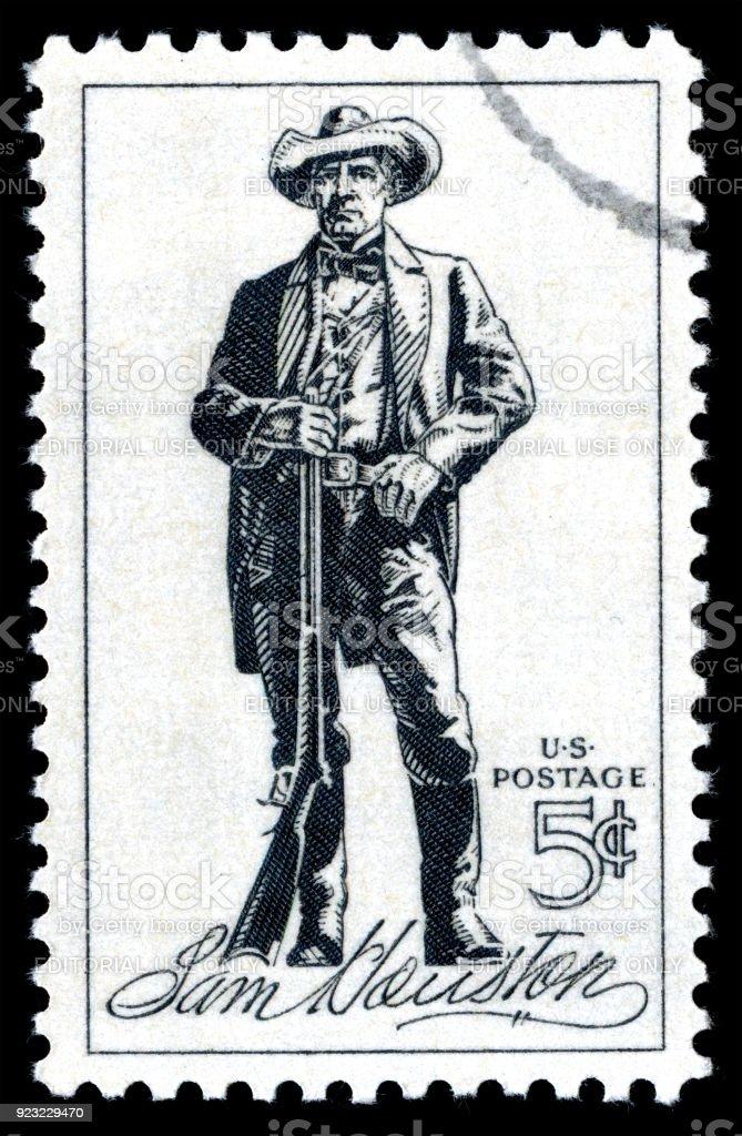 USA Postage Stamp Sam Houston stock photo