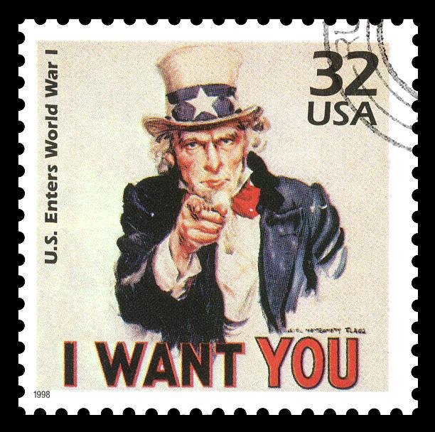 usa postage stamp uncle sam - celebrities of age bildbanksfoton och bilder