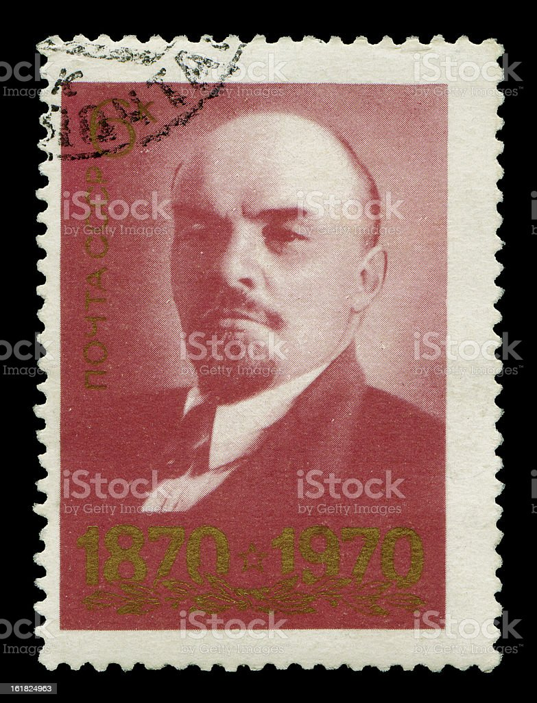 Postage stamp with Lenin royalty-free stock photo