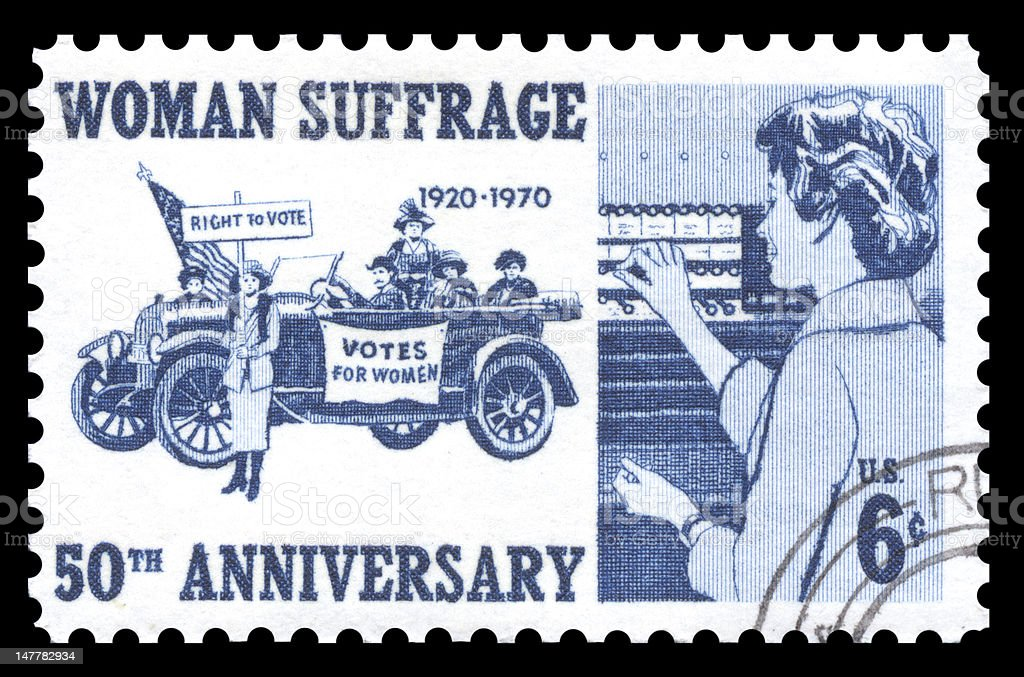 USA Postage Stamp Woman Suffrage stock photo