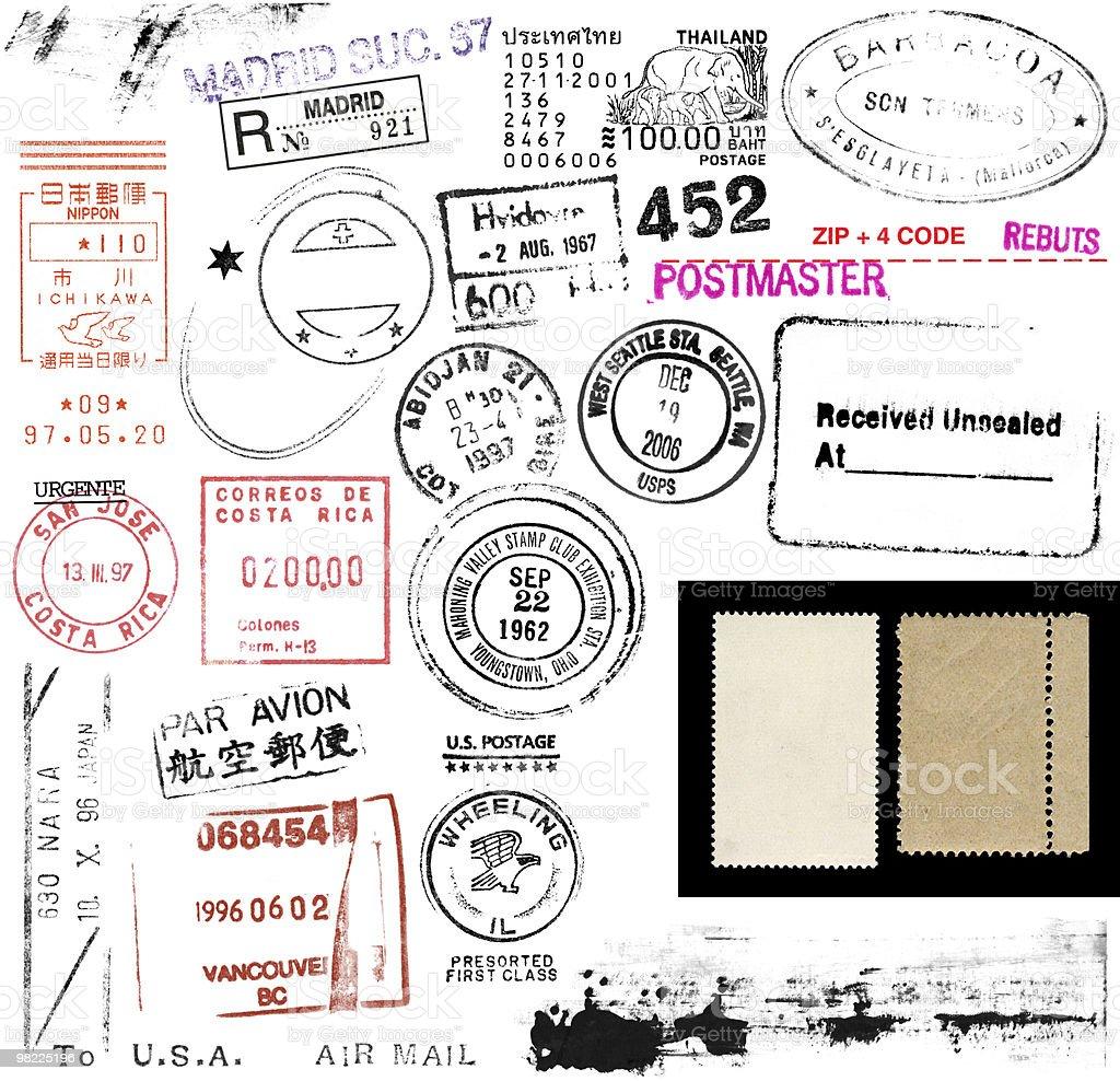 우표 및 표시 royalty-free 스톡 사진