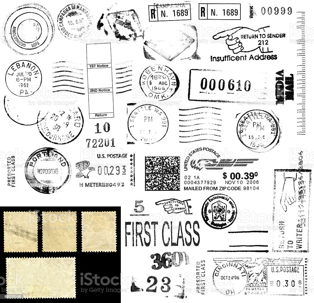 Postage Stamps and Marks XXL royalty-free stock photo