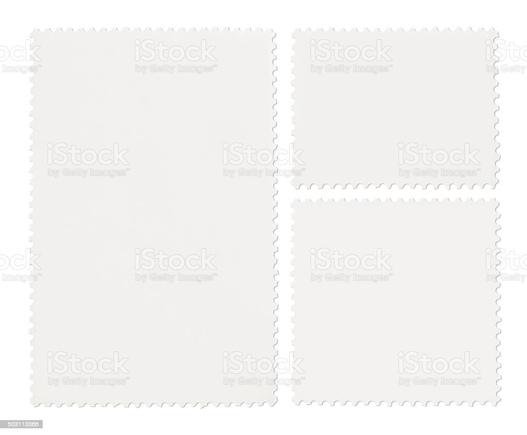 Postage Stamps Collection (with path) stock photo