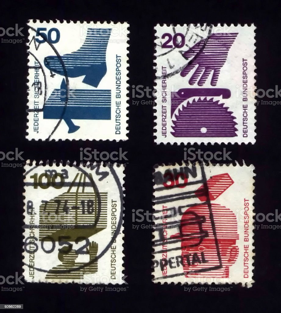 Postage Stamps Germany royalty-free stock photo