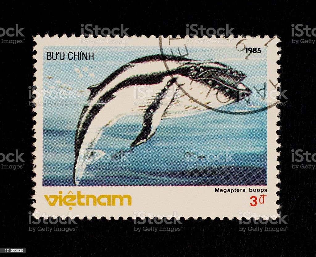 Postage Stamps: Northern Humpback (Megaptera boops) (Vietnam)​​​ foto