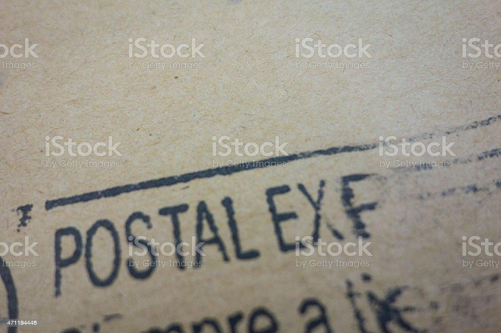 Postal Express stock photo