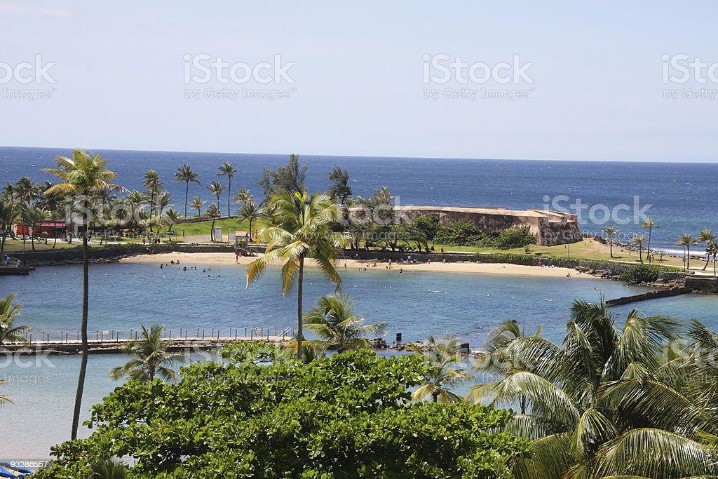 postal from puerto rico stock photo