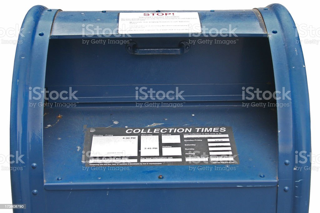 Postal Mailbox in the U.S. stock photo