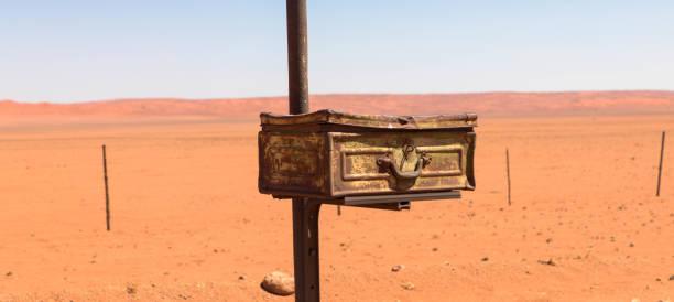 Postbox in the desert stock photo