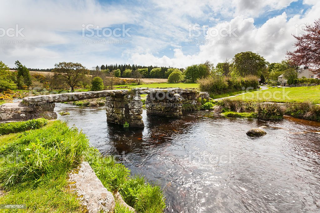 Postbridge Dartmoor National Park Devon stock photo