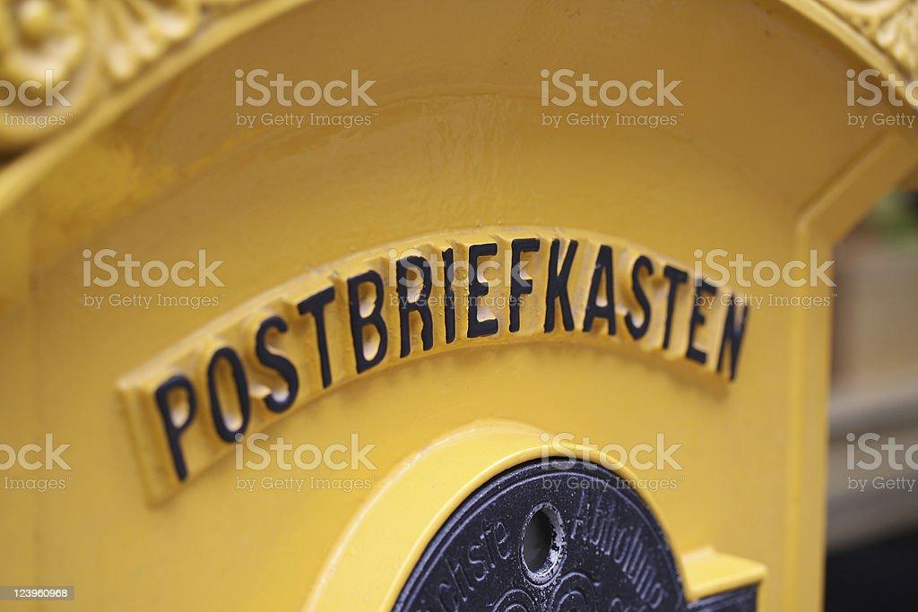 Postbriefkasten stock photo