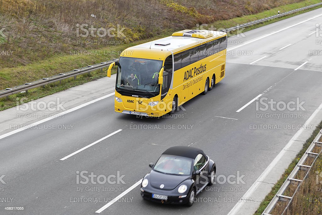 ADAC Postbus stock photo