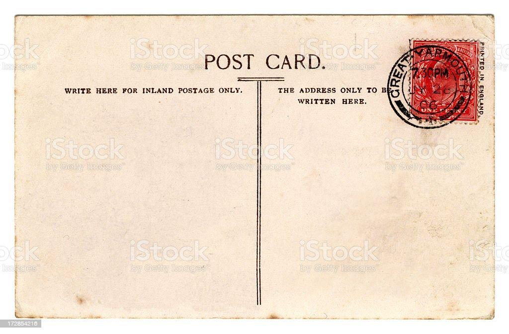 Postcard: Edward VII July 1906 royalty-free stock photo