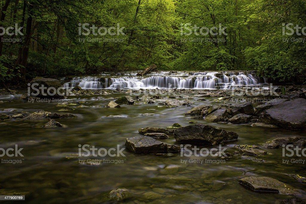 Postcard Falls at Corbetts Glen in Rochester NY stock photo