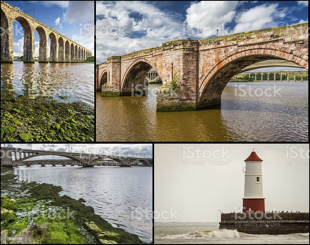 Postcard from Berwick-upon-Tweed. stock photo