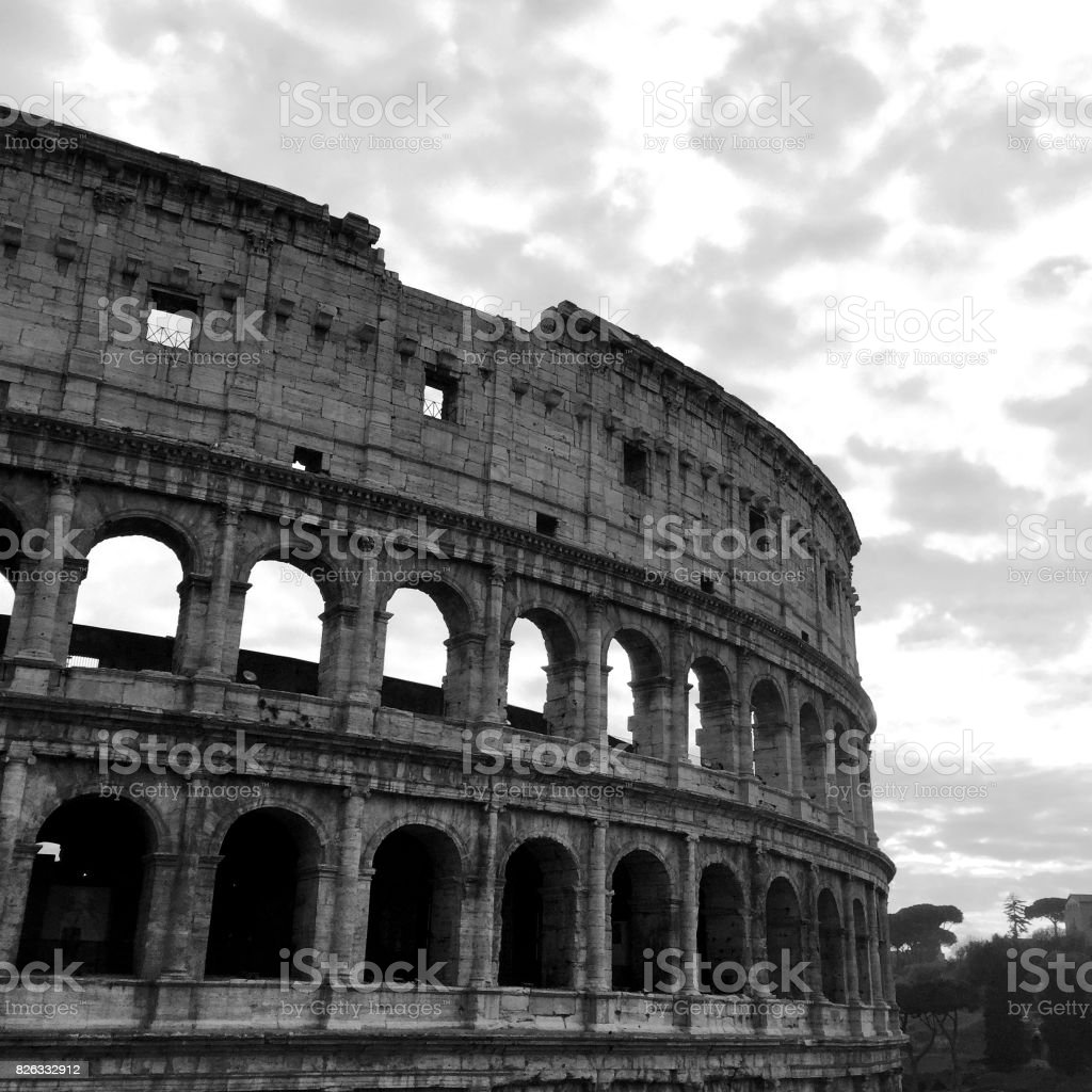 Black And White Postcard From >> Postcard From Coliseum Black And White Stock Photo More Pictures